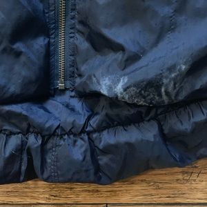 Free People Jackets & Coats - Navy Blue Scrunched Bubble Puffer Jacket